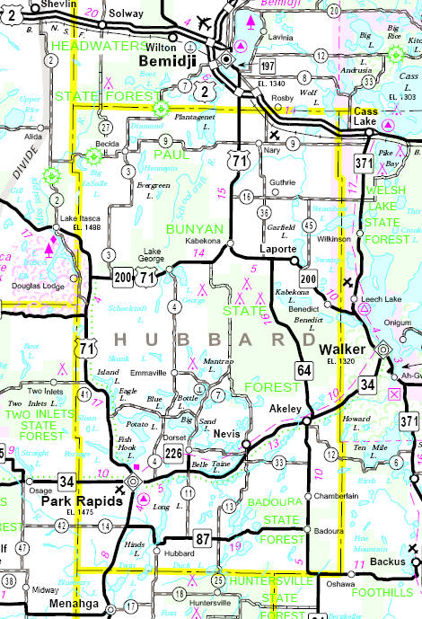 park rapids minnesota map Hubbard County Minnesota Guide park rapids minnesota map