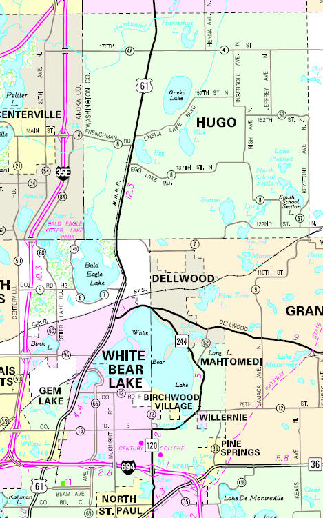 Hugo Minnesota Map.Guide To Hugo Minnesota