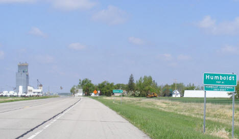 Entering Humboldt Minnesota on US Highway 75, 2008