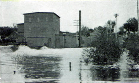 Ames Brothers Mill and Crow River Dam, Hutchinson Minnesota, 1910's