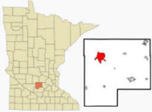 Location of Hutchinson, Minnesota