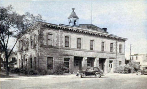 City Hall and Fire Department, Hutchinson Minnesota, 1940's