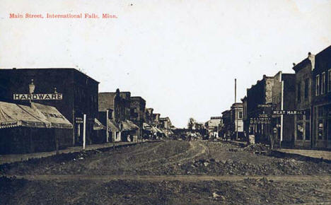 Main Street, International Falls Minnesota, 1911