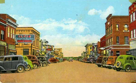 Main Street, International Falls Minnesota, 1945