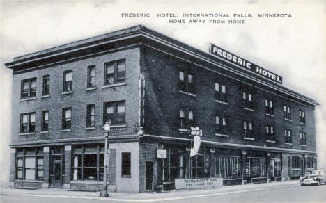 Frederic Hotel, International Falls Minnesota, 1940's