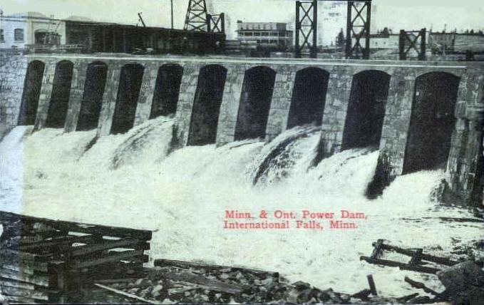 Minnesota Ontario Dam International Falls
