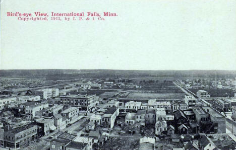 Birds eye view, International Falls Minnesota, 1912