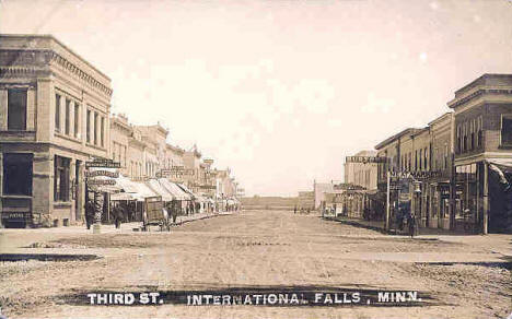 Third Street, International Falls Minnesota, 1910's