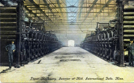 Interior of Paper Mill, International Falls Minnesota, 1920's