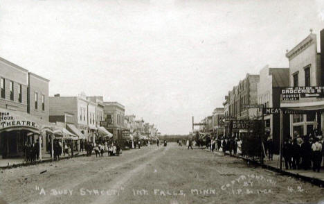Street scene, International Falls Minnesota, 1911