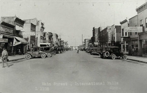 Street scene, International Falls Minnesota, 1920's