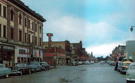Street scene, International Falls Minnesota, 1950's