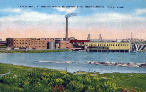 Paper Mill, International Falls Minnesota, 1940's