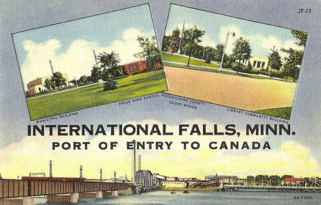 Multiple scenes, International Falls Minnesota, 1948