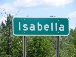 Isabella Minnesota highway sign
