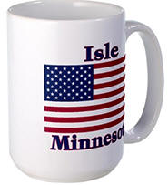 Isle US Flag Large Mug