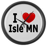 I Love Isle Large Wall Clock