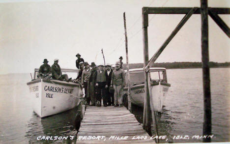 Carlson's Resort on Lake Mille Lacs, Isle Minnesota, 1943