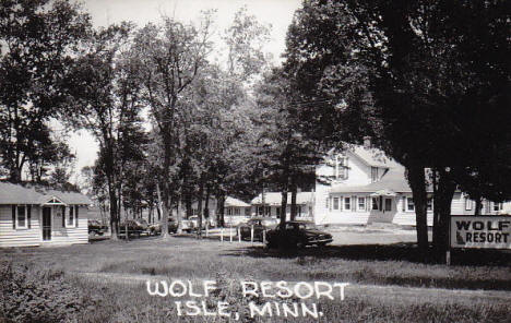 Wolf Resort, Isle Minnesota, 1950's