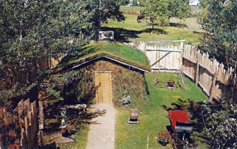 Sod House at Fort Belmont, Jackson Minnesota, 1959