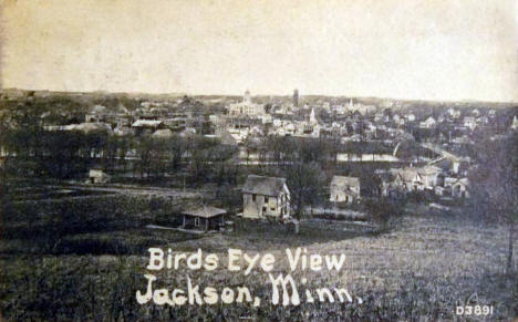 Birds eye view, Jackson Minnesota, 1910
