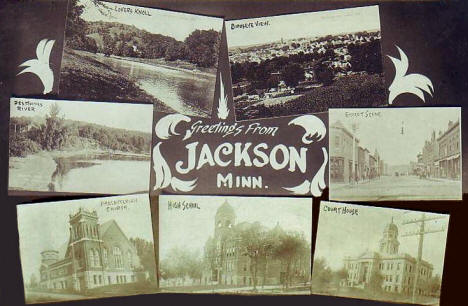Greetings from Jackson Minnesota, 1913