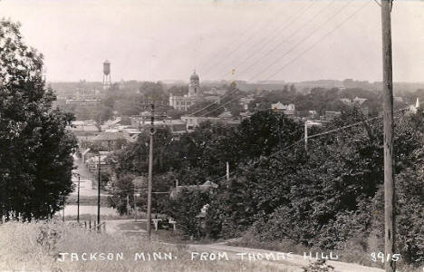Jackson Minnesota from Thomas Hill, 1930's?
