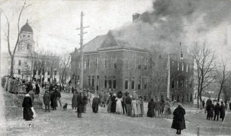 Fire at Public School, Jackson Minnesota, 1913