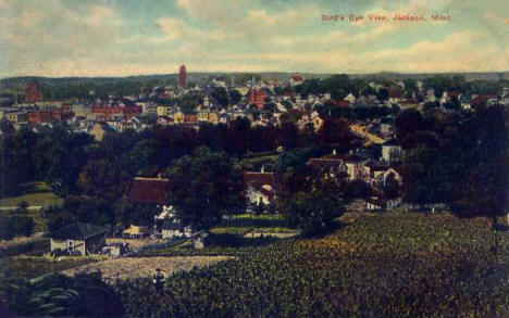 Birds eye view, Jackson Minnesota, 1908