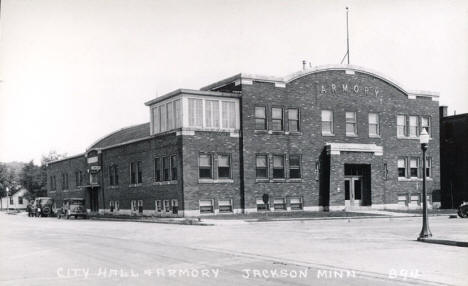 City Hall and Armory, Jackson Minnesota, 1930's