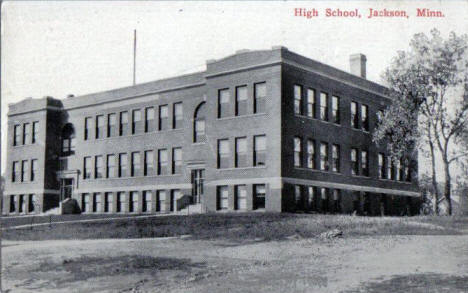 High School, Jackson Minnesota, 1910's