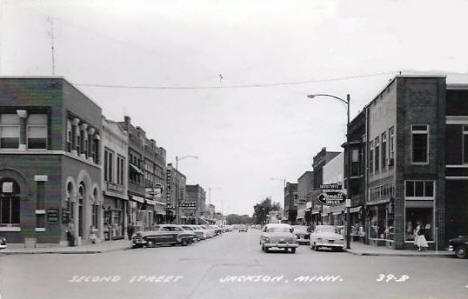 Second Street, Jackson Minnesota, 1950's