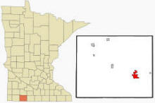 Location of Jackson, Minnesota