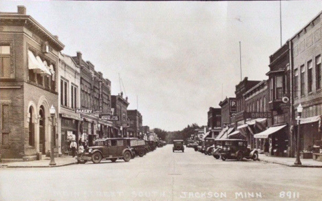 Main Street South, Jackson Minnesota, 1920's