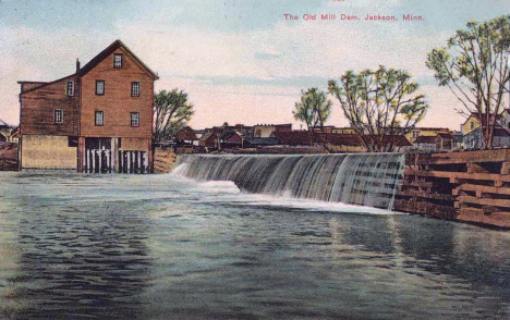 The Old Mill Dam, Jackson Minnesota, 1907