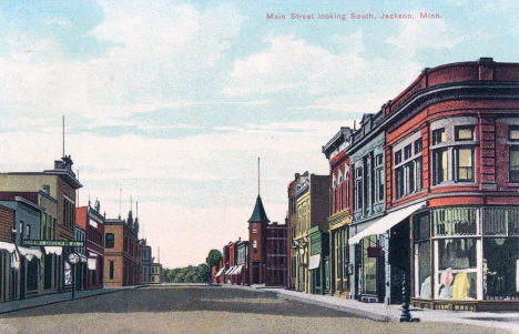 Main Street looking souh, Jackson Minnesota, 1908