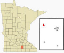 Location of Janesville, Minnesota