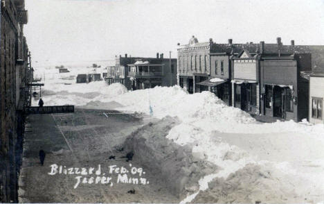Blizzard, Jasper Minnesota, February 1909