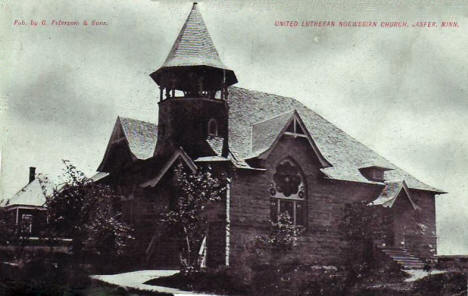 United Lutheran Norwegian Church, Jasper Minnesota, 1910