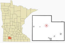 Location of Jeffers, Minnesota