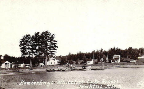 Kamberlings Whitefish Lake Resort, Jenkins Minnesota, 1918