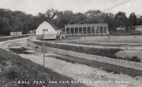 Ball Park and Fair Grounds, Jordan Minnesota, 1940's