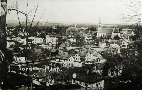 Birds eye view, Jordan Minnesota, 1911