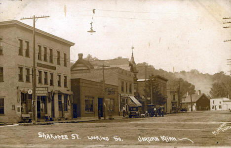 Shakopee Street looking south, Jordan Minnesota, 1920's