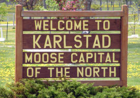Karlstad Minnesota Welcome Sign