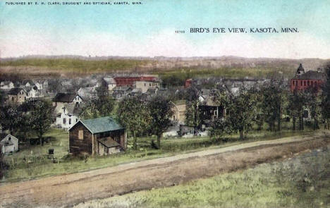 Birds eye view, Kasota, Minnesota, 1909