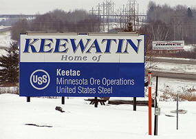 Keewatin Minnesota sign