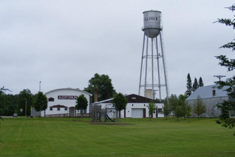Park, with Auditorium and Water Tower in background, Kelliher Minnesota, 2009