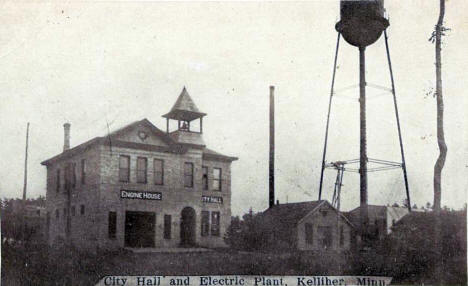 City Hall and Electric Plant, Kelliher Minnesota, 1912
