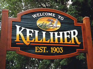 Kelliher Minnesota Welcome Sign